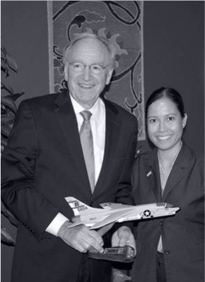 Jessica Cox and Senator Tom Harkin