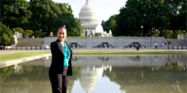 Jessica Cox in Washington
