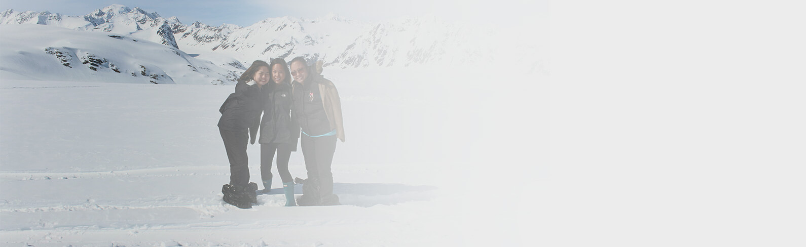Jessica Cox and friends in the snow