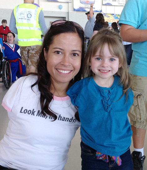 Jessica Cox with child