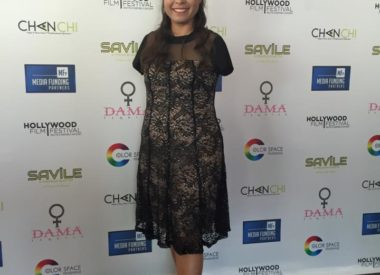 Jessica Cox at a red carpet event