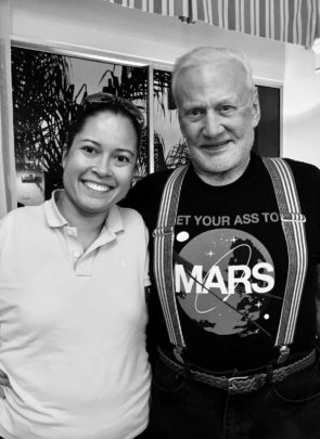 Jessica Cox and Buzz Aldrin