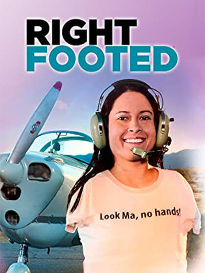 Jessica Cox DVD cover for right footed