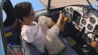 Jessica Cox piloting